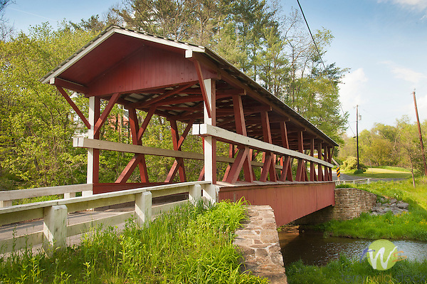 Bedford County Bridge #15. Colvin Covered Bridge. 1880. Shawnee Creek. Multiple King Post.