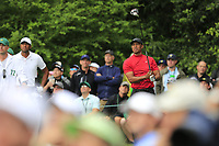 Tiger Woods (USA) on the 14th tee during the final round at the The Masters , Augusta National, Augusta, Georgia, USA. 14/04/2019.<br /> Picture Fran Caffrey / Golffile.ie<br /> <br /> All photo usage must carry mandatory copyright credit (© Golffile | Fran Caffrey)