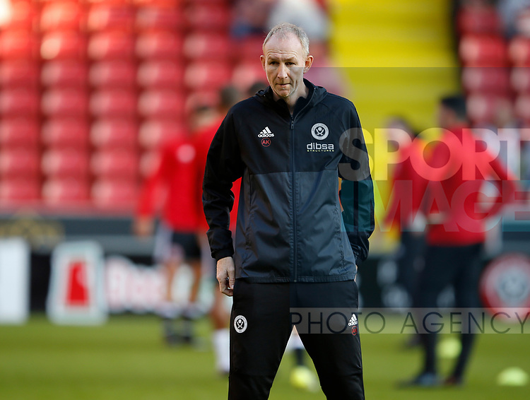 Alan Knill Assistant manager of Sheffield Utd during the Carabao Cup First Round match at Bramall Lane Stadium, Sheffield. Picture date: August 9th 2017. Pic credit should read: Simon Bellis/Sportimage
