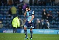 Sam Wood of Wycombe Wanderers leaves the field after his teams 1 2 loss during the Sky Bet League 2 match between Wycombe Wanderers and Crawley Town at Adams Park, High Wycombe, England on 25 February 2017. Photo by Andy Rowland / PRiME Media Images.