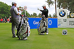 Darren Clarke (NIR) and Lee Westwood (ENG) wait to tee off on the 12th tee during Day 3 of the BMW PGA Championship Championship at, Wentworth Club, Surrey, England, 28th May 2011. (Photo Eoin Clarke/Golffile 2011)