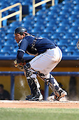 Lake County Captains catcher Alex Monsalve #30 during the second game of a double header against the West Michigan Whitecaps at Classic Park on May 30, 2011 in Eastlake, Ohio.  Lake County defeated West Michigan 4-3.  Photo By Mike Janes/Four Seam Images
