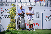 John Huh (USA) looks over his tee shot on 17 during round 1 of the Honda Classic, PGA National, Palm Beach Gardens, West Palm Beach, Florida, USA. 2/23/2017.<br /> Picture: Golffile | Ken Murray<br /> <br /> <br /> All photo usage must carry mandatory copyright credit (&copy; Golffile | Ken Murray)