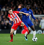 Chelsea's Tiemoue Bakayoko in action Atletico Madrid's Saul Niguez in action during the Champions League Group C match at the Stamford Bridge, London. Picture date: December 5th 2017. Picture credit should read: David Klein/Sportimage