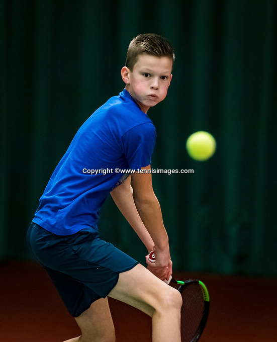 Wateringen, The Netherlands, November 27 2019, De Rhijenhof , NOJK 12 and16 years, Sander Paradis (NED)<br /> Photo: www.tennisimages.com/Henk Koster