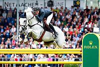 BEL-Gregory Wathelet rides Coree during the Rolex Grand Prix Springprüfung - Der Große Preis von Aachen.   Final-1st. 2017 GER-CHIO Aachen Weltfest des Pferdesports. Sunday 23 July. Copyright Photo: Libby Law Photography