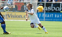 Luka Modric chases down the ball. San Jose Earthquakes tied  Tottenham Hotspur 0-0 at Buck Shaw Stadium in Santa Clara, California on July 17th, 2010.