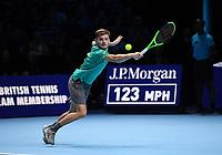 DAVID GOFFIN (BEL)<br /> <br /> TENNIS - NITTO ATP FINALS - 02 ARENA, LONDON, UNITED KINGDOM, 2017  <br /> <br /> <br /> <br /> &copy; TENNIS PHOTO NETWORK