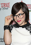 Krysta Rodriguez sporting a pair of signature 'Ralphie' specs at the Broadway Opening Night Performance for 'A Christmas Story - The Musical'  at the Lunt Fontanne Theatre in New York City on 11/19/2012.