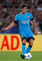 Calcio, Champions League, Gruppo E: Roma vs Barcellona. Roma, stadio Olimpico, 16 settembre 2015.<br /> FC Barcelona&rsquo;s Sergi Roberto during a Champions League, Group E football match between Roma and FC Barcelona, at Rome's Olympic stadium, 16 September 2015.<br /> UPDATE IMAGES PRESS/Riccardo De Luca<br /> <br /> *** ITALY AND GERMANY OUT ***
