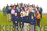 The large crowd who gathered in Castleisland Golf club for  John and Ma?ire Geaney Captain's drive on Sunday morning front row l-r: Con Daly Club President, Ma?ire Geaney Lady Captain, John Geaney Club Captain and Babs Kelliher Lady President