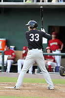 Kyle Bellows #33 of the Akron Aeros plays in a game against the Harrisburg Senators at Metro Bank Park on June 10, 2011 in Harrisburg, Pennsylvania.   ..Photo By Bill Mitchell/Four Seam Images