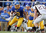 BROOKINGS, SD - NOVEMBER 6: Tyrel Kool #2 of South Dakota State University tries to shake the grasp of one defender while looking at Drew Temple  #20 of Missouri State in the second quarter of their game Saturday afternoon at Coughlin Alumni Stadium in Brookings. (photo by Dave Eggen/Inertia)