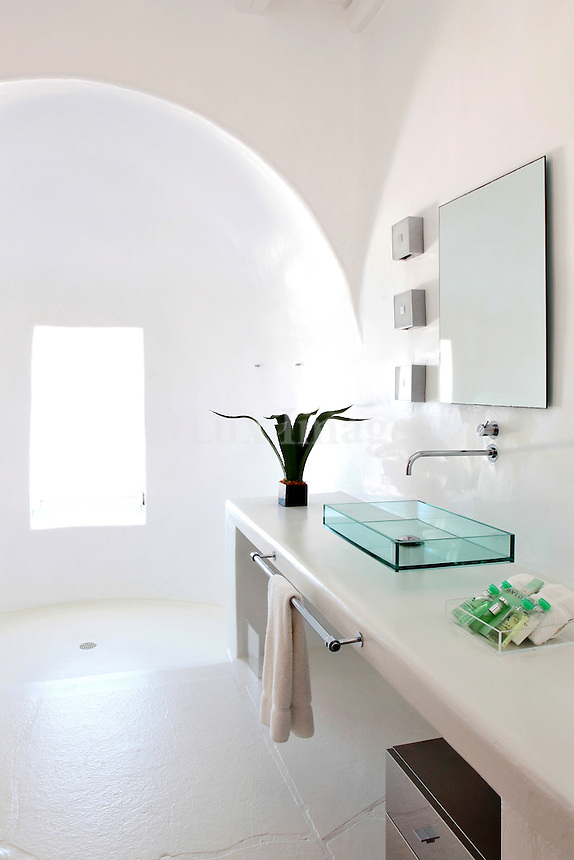 cycladic white bathroom