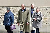 PROCHES ET FAMILLE - OBSEQUES DE LA MERE DE NICOLAS DUPONT-AIGNAN A L' EGLISE SAINT PIERRE DU GROS CAILLOU, PARIS, 04/05/2017
