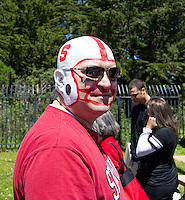 SAN FRANCISCO, CA - April 14, 2012: Stanford fan at the Stanford Cardinal and White Spring Game at Kezar Stadium in San Francisco, CA.