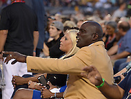 Canton, Ohio - August 8, 2015: Former NFL player and Hall of Famer Lawrence Taylor attends the 2015 Pro Football Hall of Fame enshrinement in Canton, Ohio August 8, 2015.  (Photo by Don Baxter/Media Images International)