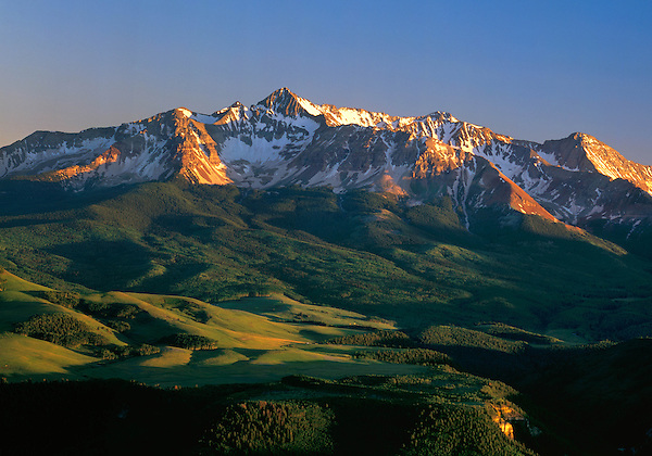 Wilson Peak in summer, Telluride, Colorado, USA .  John leads private photo tours in Telluride and the San Juan Mountains. Year-round Colorado photo tours.
