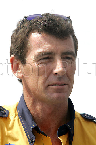 24 February 2005: Portrait of Australian rider Troy Corser (AUS) of the Alstare Suzuki Corona Extra Team before qualifying practice for round one of the SBK Superbike World Championship held at the Losail International Circuit, Doha, Qatar. Photo: Neil Tingle/Action Plus..050224 motorcycling motorcycle racing bike racing SBK sport motor sports motorsport motorsports