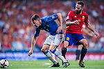 Andrea Belotti (L) of Italy fights for the ball with Daniel Carvajal (R) of Spain during their 2018 FIFA World Cup Russia Final Qualification Round 1 Group G match between Spain and Italy on 02 September 2017, at Santiago Bernabeu Stadium, in Madrid, Spain. Photo by Diego Gonzalez / Power Sport Images