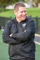 Allston, MA - Wednesday Sept. 07, 2016: Matt Beard during a regular season National Women's Soccer League (NWSL) match between the Boston Breakers and the Western New York Flash at Jordan Field.