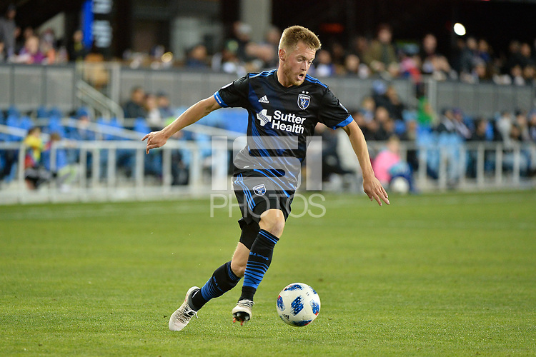 San Jose, CA - Saturday March 24, 2018: Chris Wehan during an international friendly between the San Jose Earthquakes and Club Leon FC at Avaya Stadium.
