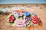 Started in the 1980s Leonard Knight's Salvation Mountain, near Niland, Calif., is a cacophony of color in tribute to God's Love.