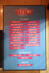 Lobby Cast Board for Katharine McPhee making her Broadway Debut in 'Waitress' at the Brooke Atkinson Theatre on April 10, 2018 in New York City.