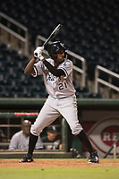 AZL White Sox left fielder Josue Guerrero (21) at bat during an Arizona League game against the AZL Indians 1 at Goodyear Ballpark on June 20, 2018 in Goodyear, Arizona. AZL Indians 1 defeated AZL White Sox 8-7. (Zachary Lucy/Four Seam Images)