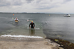 """Mark Watters who came first at the Clogherhead """"Round the Head Swim""""....(Photo credit should read Jenny Matthews/NEWSFILE)..."""