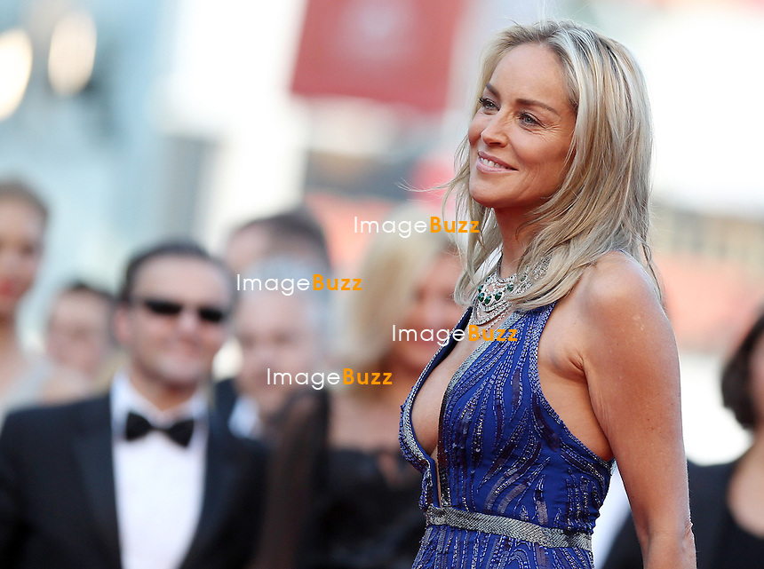 "Sharon Stone attends the "" Behind The Candelabra' "" premiere during The 66th Annual Cannes Film Festival at The 60th Anniversary Theatre on May 21, 2013 in Cannes, France."