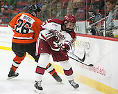 Ryan Siiro (Princeton - 26), Desmond Bergin (Harvard - 37) - The Harvard University Crimson defeated the visiting Princeton University Tigers 5-0 on Harvard's senior night on Saturday, February 28, 2015, at Bright-Landry Hockey Center in Boston, Massachusetts.