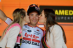 Caleb Ewan (AUS) Lotto-Soudal wins Stage 11 of the 2019 Giro d'Italia, running 221km from Carpi to Novi Ligure, Italy. 22nd May 2019<br /> Picture: Marco Alpozzi/LaPresse | Cyclefile<br /> <br /> All photos usage must carry mandatory copyright credit (© Cyclefile | Marco Alpozzi/LaPresse)