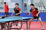 (L to R) <br /> Koki Niwa, <br /> Maharu Yoshimura (JPN), <br /> JULY 22, 2016 - Table Tennis : <br /> Japan national team training session <br /> for Rio Olympic Games 2016 <br /> at Ajinomoto National Training Center, Tokyo, Japan. <br /> (Photo by YUTAKA/AFLO SPORT)