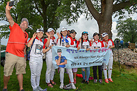 Sung Hyun Park's (KOR) fan club was elated after she won the 2018 KPMG Women's PGA Championship, Kemper Lakes Golf Club, at Kildeer, Illinois, USA. 7/1/2018.<br /> Picture: Golffile | Ken Murray<br /> <br /> All photo usage must carry mandatory copyright credit (&copy; Golffile | Ken Murray)
