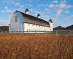 Sleeping Bear Dunes National Lakeshore, Michigan: Morning sun on the historic dairy barn of the  D. H. Day Farm near Glen Haven