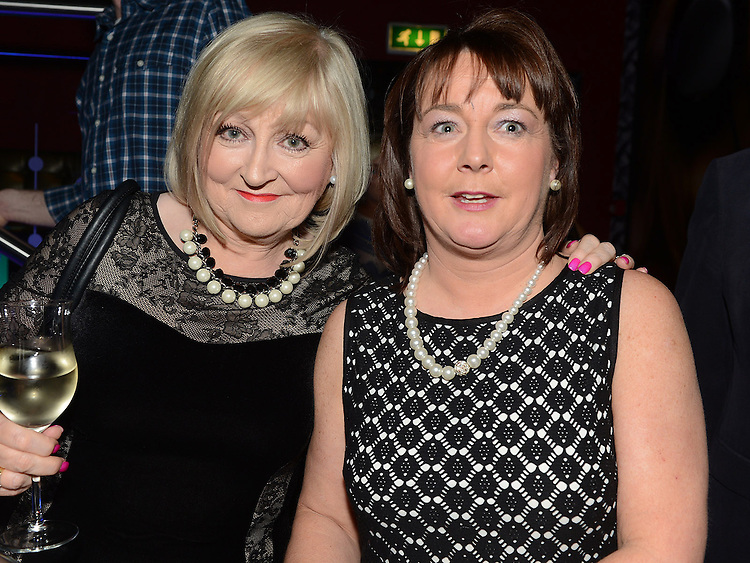 Annette Rice and Jane Sheridan pictured at the benefit night for DJ Tayo Sheridan in Galaxy Night Club. Photo:Colin Bell/pressphotos.ie