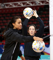 04.08.2015 Silver Ferns Bailey Mes during Silver Ferns training ahead of the 2015 Netball World Champs at All Phones Arena in Sydney, Australia. Mandatory Photo Credit ©Michael Bradley.