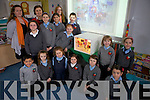 Pupils and staff from Lemamore NS display their art work..F l-r: Eoghan Cameron, Tara Lynch, Elisha Lewis-Broghan, Emily Hanrahan, Jack Uljee, Dylan Uljee, Kady Acocal-Moran, Eabha Lawlee. B l-r: Cathriona Moran(Artist), Clara Hanrahan, Anna Marie O'Keeffe(Principal), Roisin O'Keeffe, Roisin Acocal-Moran, Eileen McCarthy(Teacher), Maura O'Neill and Sean Hanrahan.