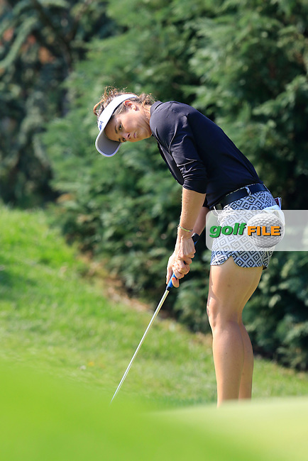 Joanna Klatten (FRA) takes her putt on the 6th green during Friday's Round 2 of the LPGA 2015 Evian Championship, held at the Evian Resort Golf Club, Evian les Bains, France. 11th September 2015.<br /> Picture Eoin Clarke | Golffile