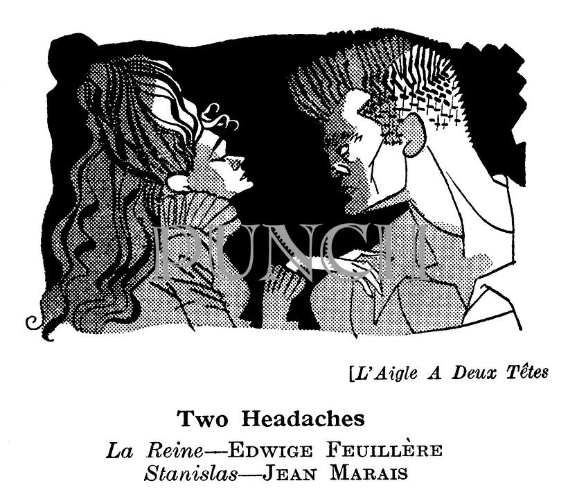 L'Aigle A Deux Tetes ; Edwige Feuillere and Jean Marais