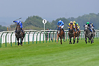 Winner of The British Stallion Studs EBF Odstock Fillies' Handicap Almareekh ridden by Jim Crowley and trained by Sir Michael Stoute during Horse Racing at Salisbury Racecourse on 13th August 2020