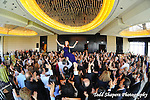 Hora and dancing during gala, elegant  Bat Mitzvah at the 65th floor ballroom of the  Mandarin Oriental Hotel.  ..