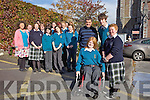 Ciara O'Mahony, Fr. Kieran O'Brien, Daniel Pierse and Almha Foley pictured with from Mercy Mounthawk and Presentation Secondary who participated in volunteer work with Sr Consilio during the summer.