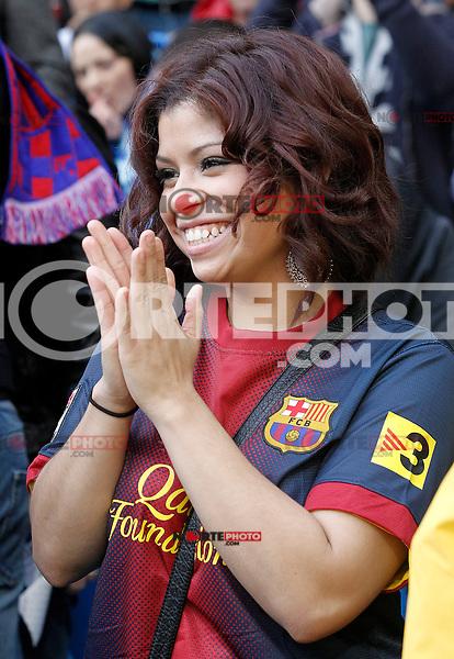FC Barcelona's supporter during La Liga match.March 02,2013. (ALTERPHOTOS/Acero) /NortePhoto