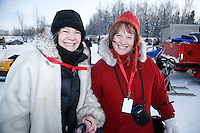 Sunday February 27, 2010   sled checkers at   Junior Iditarod at Willow Lake, Alaska