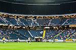 ***BETALBILD***  <br /> Stockholm 2015-07-30 Fotboll Kval Uefa Europa League  AIK - Atromitos FC :  <br /> Vy &ouml;ver Tele2 Arena med publik och tomma l&auml;ktarsektioner under matchen mellan AIK och Atromitos FC <br /> (Foto: Kenta J&ouml;nsson) Nyckelord:  AIK Gnaget Tele2 Arena UEFA Europa League Kval Kvalmatch Atromitos FC Grekland Greece inomhus interi&ouml;r interior supporter fans publik supporters