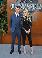 Emily Carmichael &amp; Guest at the premiere for &quot;Jurassic World: Fallen Kingdom&quot; at the Walt Disney Concert Hall, Los Angeles, USA 12 June 2018<br /> Picture: Paul Smith/Featureflash/SilverHub 0208 004 5359 sales@silverhubmedia.com