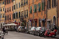 Quaint street scene at Pisa,Italy