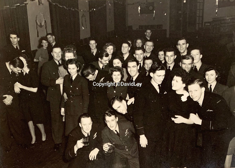 BNPS.co.uk (01202 558833)<br /> Pic:  DavidLay/BNPS<br /> <br /> High jinks in the Mess between raids - almost half the crews never returned.<br /> <br /> Bomber command heroes WW2 exploits discovered in a shoebox.<br /> <br /> The personal effects of a fearless 'Tail-end Charlie' have been discovered in a shoebox - and they include a charming set of photos of his wartime service.<br /> <br /> Flight Sergeant Douglas Alexander, of 460 Squadron, took part in nearly 40 bombing raids over Germany, including the famous assault on Hitler's mountain retreat, Berchtesgaden.<br /> <br /> As a tail gunner, he sat in a tiny glass turret at the rear of Lancaster and Halifax bombers - a terribly exposed position.<br /> <br /> The shoebox, containing his bravery medals, logbooks and photos, was bought into auctioneer David Lay Frics, of Penzance, Cornwall, by his daughter.<br /> <br /> Flt Sgt Alexander's medal group includes the prestigious Distinguished Flying Medal, awarded for 'exceptional valour, courage and devotion to duty', with his photos capturing the camarederie which existed in the RAF as the airmen risked their lives on every mission to defeat Adolf Hitler.